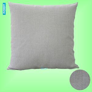 1 stücke 18x18 zoll Poly Baumwolle Gemischt Künstliche Leinen Kissenbezug Blank Raw White Flachs Kissenbezug Rückenbeschichtung Perfekt für Sublimation