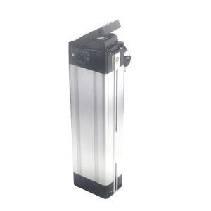 Подседельная трубка серебряная рыба электрический велосипед аккумуляторная батарея 48v 36V 16ah литиевые батареи для 400 Вт до 1000 Вт мотор +BMS + зарядное устройство