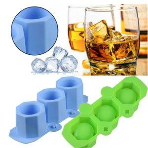 3 Delik Silikon Beton Kalıp Seramik Kil Craft Döküm Beton Kupa Kalıp Çiçek Vazo Ice Cube Tepsi DIY Buz Kalıp