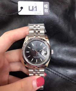 Weibliche Armbanduhr Datejust automatische Armbanduhr 36mm Zifferblatt Faltschließe Edelstahl Original-Haken-Saphir-Glas
