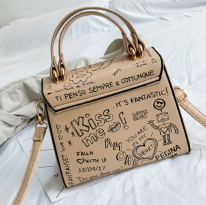 Designer bolsas Bolsas moda Doodling mulheres sacos com bolsa de ombro mini-dama portátil de um ombro saco Mensageiro novo vaca moda ////