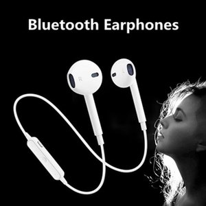 Universal S6 Sports Wireless Bluetooth Earphones Stereo Headset Earpiece eadphone With Mic For Samsung Xiaomi Android iPhone