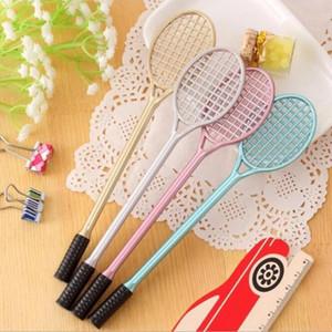 0.5mm Black Refill Students Gel Pens Tennis Racket Shape Badminton Racket Gel-Pen Writing Supplies Office & School HA397