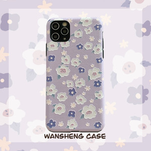 2020 Hot Sale Ins Purple Floral Phone Case For iPone 11Pro 11ProMax 11 X XS XR XRMAX 7&8 7p&8Plus