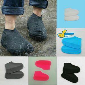 2020 zapato impermeable del silicón Cubrezapatos cubierta al aire libre a prueba de lluvia Senderismo antideslizante