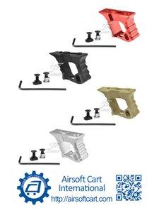 keymod MLOK MLOK CNC 경량에 대한 ACI 헤일로 각도 전방 손잡이 손 정지 Handstop (블랙 / 레드 / 탄 / 실버)