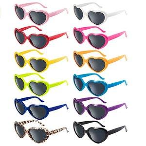 occhiali sportivi ragazze per il capretto lunettes de soleil bebe verde elettrica oversize a forma di cuore Retro Sunglasses