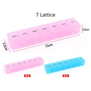 Weekly 28 Dia Tablet Pill Box Titular funcionais Medicina de armazenamento Organizer caso prático Pill Container Box Divisores 5 Styles