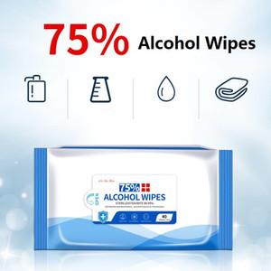 75% Lingettes alcool 40 comprimés / boîte antibactériennes lingettes désinfectantes portable Antiseptique lingettes humides
