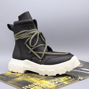 2019 R0 correa de moda botas súper pesadas de fondo de cuero de vaca hardware incrementado la afluencia de personas dentro de los zapatos de moda para hombre de alta gama