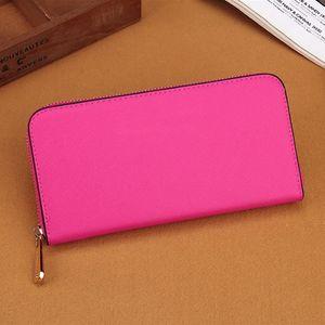 Designer Sugao rosa carteiras pu mulheres de couro carteira, bolsa 2019 novos embreagem zíper saco de longa bolso com suporte de cartão grande