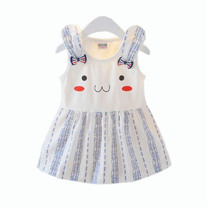 Kinder-Designer-Kleidung-Baby Mädchen-nette Riemen-Kleid Babys sleeveless Bogen Hosenträger Kleid Sundrdss Boutique Kinder Strand Röcke Kleidung M1590