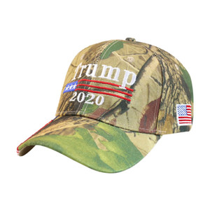 Fashion Trump 2020 Baseball Hat Casual Embroidery Letter Camo Adjustable Snapback Cap USA Flag Ball Caps LT-TTA1272