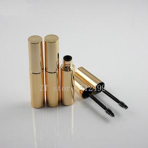 8ML Vacío rimel tubo de empaque portátil botella de pestañas Vial líquido brillante de oro Mascara Tubos recargables herramientas de composición Botella