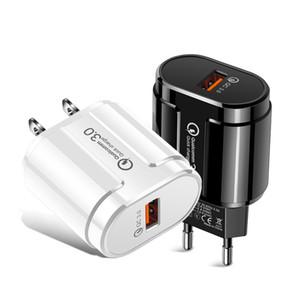 Черный белый QC3. 0 Quick Charge USB зарядное устройство для Huawei Xiaomi телефон EU UK US Wall Charger Plug Data line