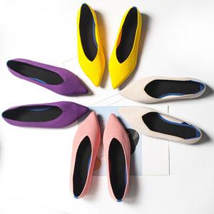 MCCKLE Mulheres Flats Shoes malha respirável Feminino Loafers Comfort rasos Sapatas macias Sapato de bico fino Casual Ladies preguiçoso Calçado