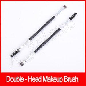 Maquiagem Sobrancelha Sobrancelha Escova de Cabelo 12 # Dupla Sintética Escovas de Maquiagem Dupla Escova de Sobrancelha Cabeça Escovas Kit Pinceis Sombra escova DHL Livre