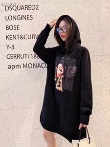 2020 Yaz Kapşonlu Triko Elbise Pist Vintage Siyah / Beyaz Uzun Kollu Lüks Kadınlar Sıcak Satış Günlük Elbise Yeni Geliş Toptan