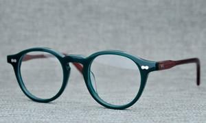 Óculos de prescrição BeLight Optical Homens Itália Acetato redonda pequena Vintage Frame retro Spectacle Optical MILTZEN Eyewear