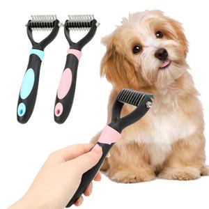 3PCS Pet Fur Knot Cutter Toilettage pour chiens Délestage Rake Chien Chat Épilation peigne brosse pour animaux toilettage outil
