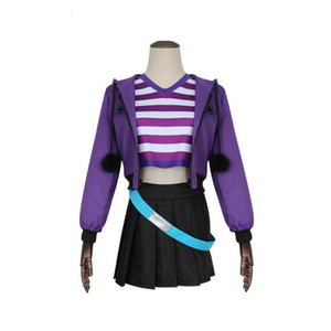 2019 Game Fate Apocrypha Astolfo Cosplay Costumes Pink Women Purple Jacket Spring Coat For Halloween Party