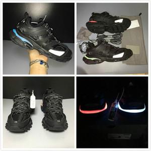 Wiederaufladbare Luxus Paris-Marken-Schwarz Sneaker New Led Sportschuhe Männer Frauen Mode Clunky Sneaker Außen Designer Dad Laufschuhe
