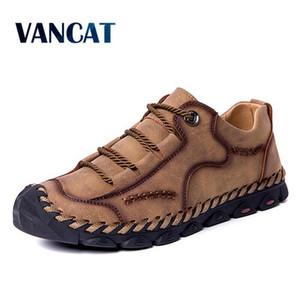 Vancat 2019 molla pattini casuali degli uomini di moda fannulloni Uomo Scarpe casual guida morbidi mocassini Flats scivolare sul Footwear Men Big