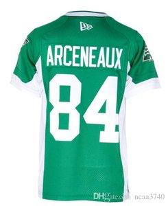 20 Roughriders Arceneaux da MenSaskatchewan n. o 84 Real Full Border College Jersey ou qualquer nome ou número de jersey
