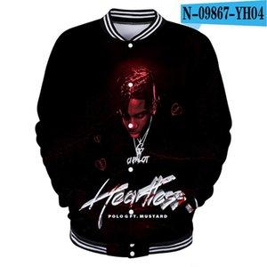 New 2020 Hip Hop Rapper G Taurus Tremani BartleAlbum 3D Baseball Uniform Men / Women Harajuku Baseball Jacket Clothes