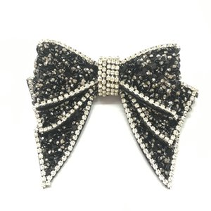 Rhinestone BlackBowKnot women's shoes and shoes flower jewelry diy clothing accessories handmade jewelry accessories decoration