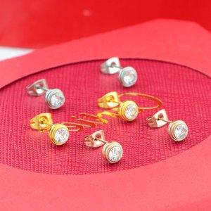 Orecchini femminili con mosaico di diamanti Lavorazione di alta qualità Bonzer Semplici borchie Orecchini squisiti di San Valentino presenti per l'amante