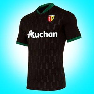 Tasarımcı yeni 2020-2021 RC Lens yetişkin Futbol Formalar uzak gömlek 20/21 RC Lens Erkekler Sotoca S.Banza Robail Jean Futbol tshirt Fanlar Tops