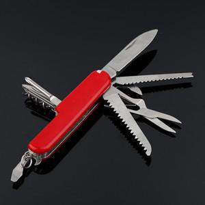 Multifunzionale pieghevole Coltello multiuso svizzero 4,5 pollici in acciaio inox Outdoor sopravvivenza tattica coltellino frutta lame di campeggio di EDC Strumenti