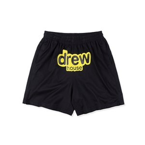 Men's Fashion Shorts Letter Printing DREW HOUSE Mesh shorts Smiley Men and Women Sports Mesh Shorts Tricolor S-XL