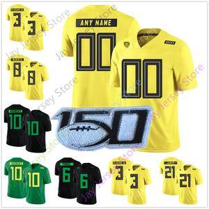 Пользовательский Oregon Ducks футбол Джерси колледж 3 Vernon Адам младшего 6 Деэнтони Томас 8 Маркус Мариот 24 Кенджона Барнера