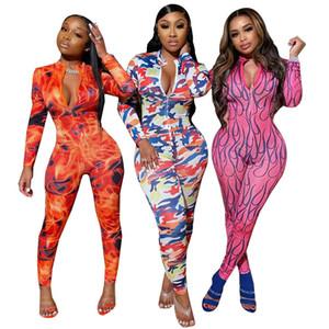 Designer Rose Femmes Jumpsuit manches longues Jumpsuit sexy Barboteuses Pantalon élégant Fashion Skinny Jumpsuit Pull usure Club
