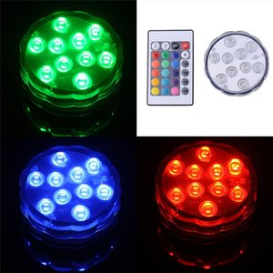 Mergulho-Lamp Candle LED impermeável Underwater-Lamp Peixe-tanque de controle remoto RGB colorido