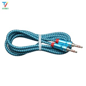 Audio Jack 3.5 mm Male to Male 1m leather weaving audio line Audio Aux Cable For iPhone Car Headphone Speaker Wire Line Aux Cord