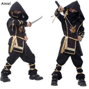 Costumi Ainiel bambini Ninja Halloween Party Le ragazze dei ragazzi del guerriero Ninja Stealth bambini del vestito il costume del giorno di Assassin per i ragazzi i bambini