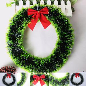 Yeni Merry Christmas Çelenk Büyük Güzel Çiçek Plastik Çelenk Kapı Harmonius Duvar Süsleme Garland Dekorasyon ilmek Dekor