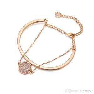 2019 Swan новый двухслойный браслета из золота 18 карат инкрустированного подарка диких ювелирной моды австрийского кристалла браслет европейских женщин