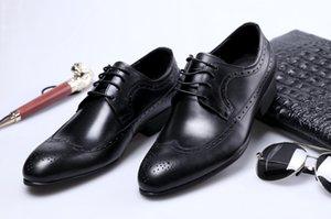 Мужские кожаные ботинки бизнеса платье обувь мужская большого размера коровьей Wear Свадебная обувь кожа