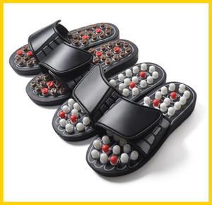 Hot Sale Acupoint Massagem Chinelos Sandal Para Homens Pés Terapia Acupressure chinês Medical Rotating Massageador pé Shoes