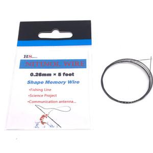 Nitinol Wire 15C (59F) 40C (104F) 80C (176F) (Nickel Titanium) 0.26mm exhibe diferentes propiedades y se activa a diferentes temperaturas