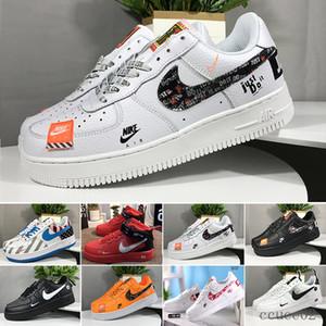 Nike air force 1 one off white 2019 Nuevas Fuerzas voltios zapatos corrientes de las mujeres para hombre de Formadores una se divierte el monopatín clásico 1 Verde Blanco Negro Gue
