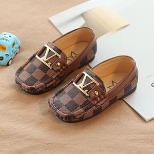Роскошные Детская обувь лодка типа детские мягкие ботинки детей PU мягкое дно девочек мальчиков новорожденных детей спортивная обувь Casual
