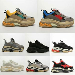 Fashion Paris Triple S Sneaker Beige Black Ceahp Sports bottom Top Mens Women Daddy platform Outdoor Tennis Sneaker