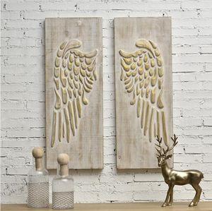 Ailes en bois Maison américaine Décoration murale en bois massif ornements de ménage porche en bois Café Hôtel Restaurant Décoration murale