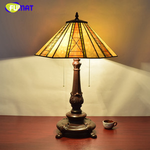 FUMAT European Creative Vintage Art Glass Brief Table Lamp American Tiffany Living Room Restaurant Bedside Deco Table Lights