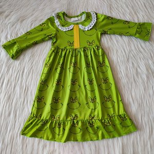 hot sale kids baby girls pajamas nightdress long sleeve baby girls designer clothes dresses fall outfits boutique kids clothing pajamas